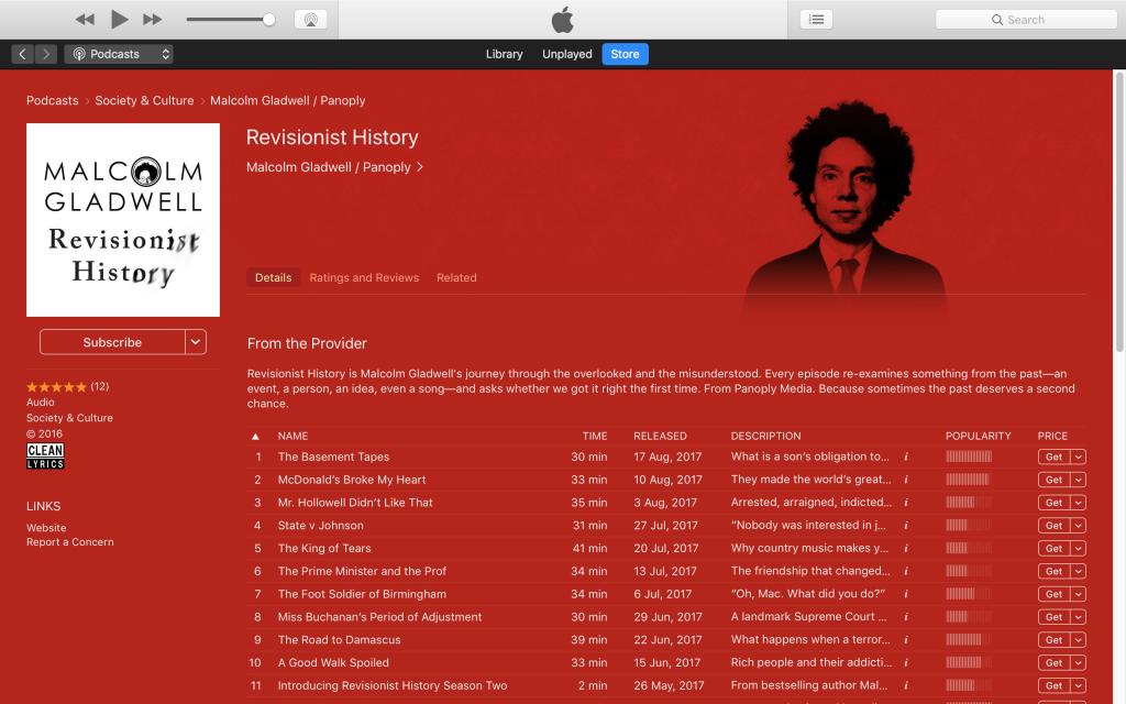 selecteaza podcast ascultare